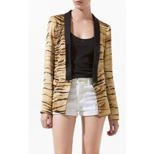 Zara animal print blazer